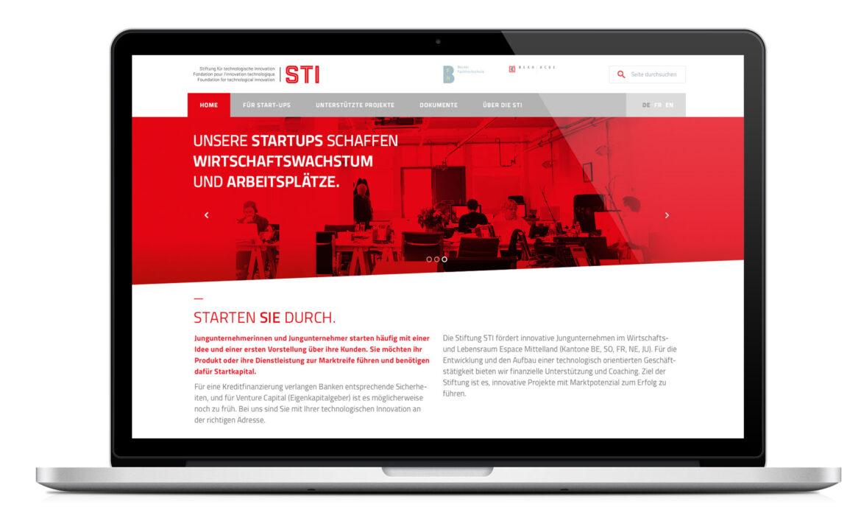 Stiftung STI Webseite
