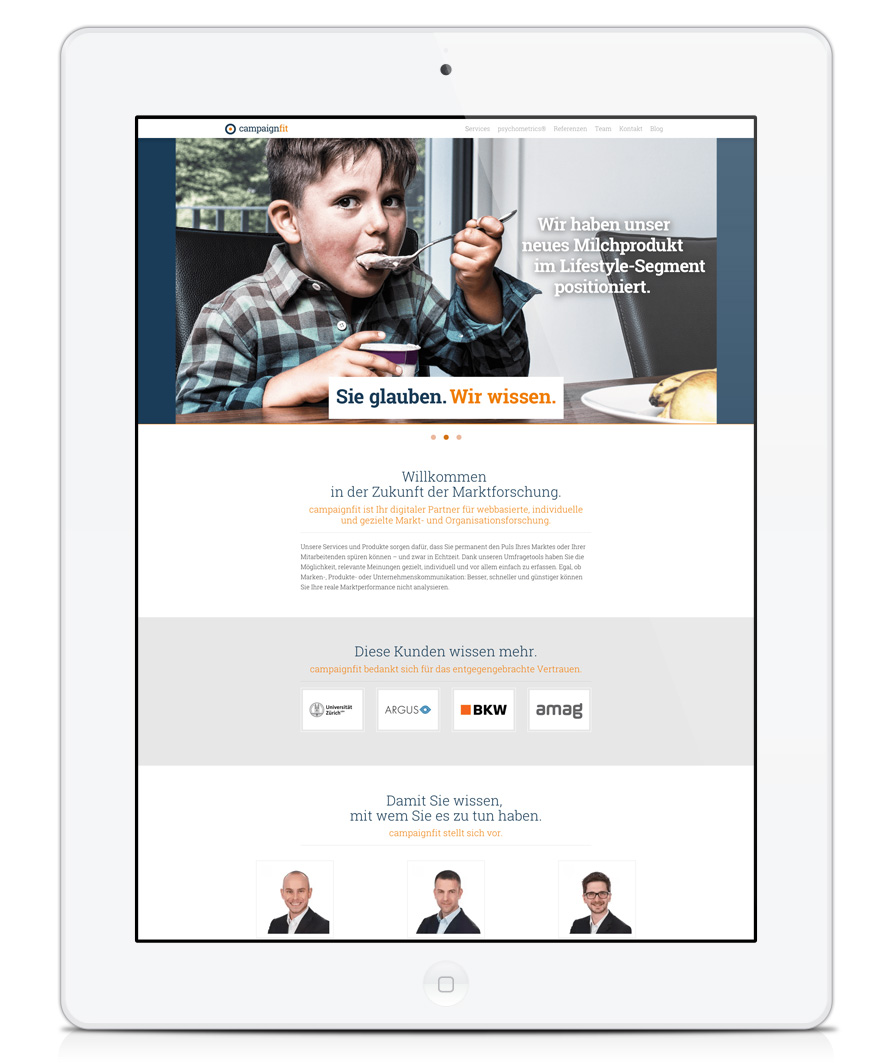 campaignfit Webseite