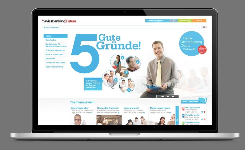 SBVG Webseite Design