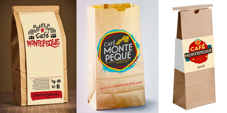 Café Montepeque Logoentwürfe