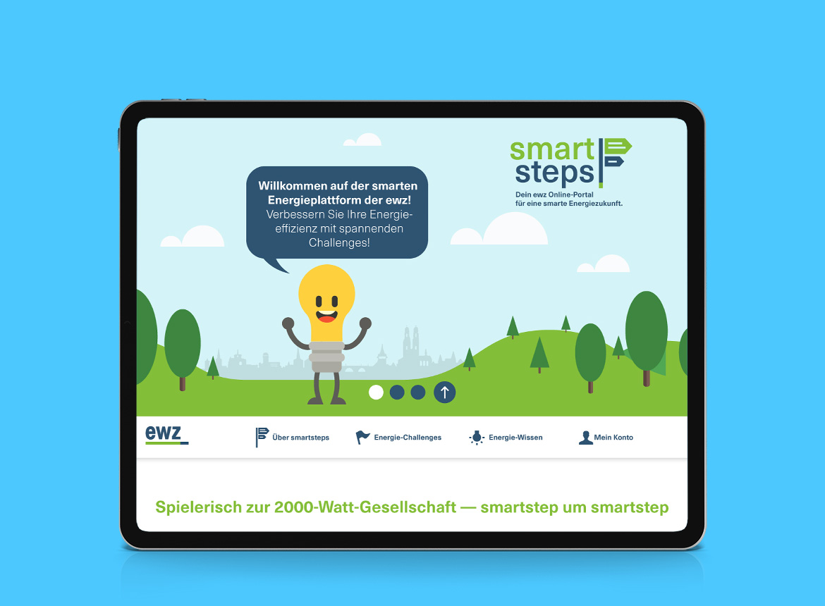 EWZ smart steps Webdesign