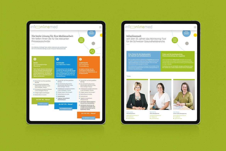 Infonlinemed-Webdesign