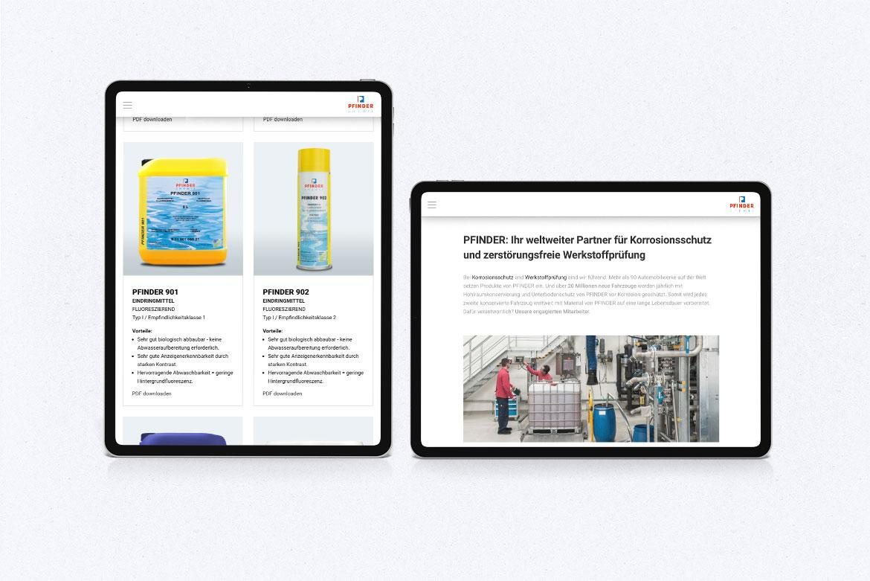 PFINDER Responsive Webdesign