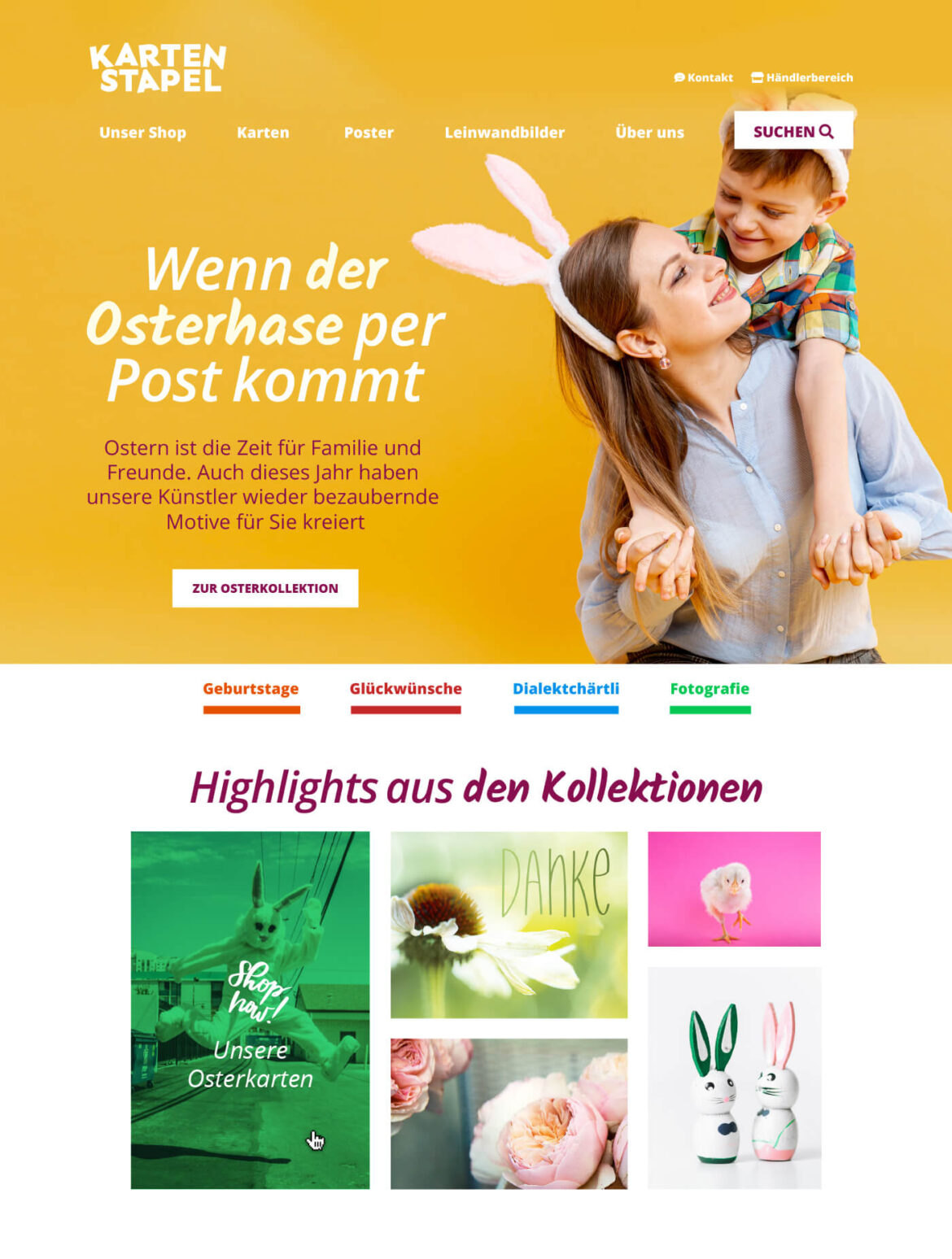 Kartenstape Webseite